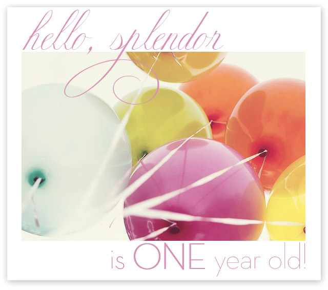 hello splendor birthday, blog birthday