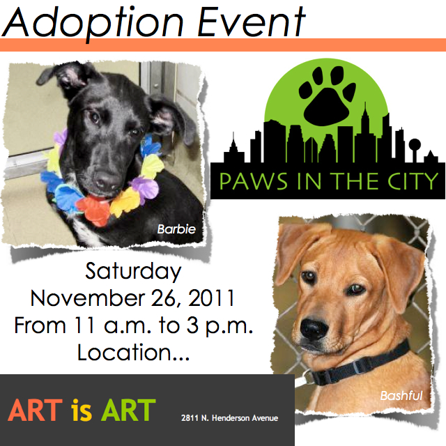 Pet Adoption Dallas, Paws in the City, Art is Art